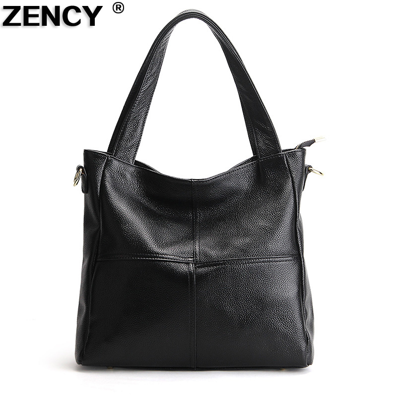 ZENCY 100 Genuine Cow Leather Women Shoulder Bags Casual Ladies Handbags Female Messenger Bag Real Leather