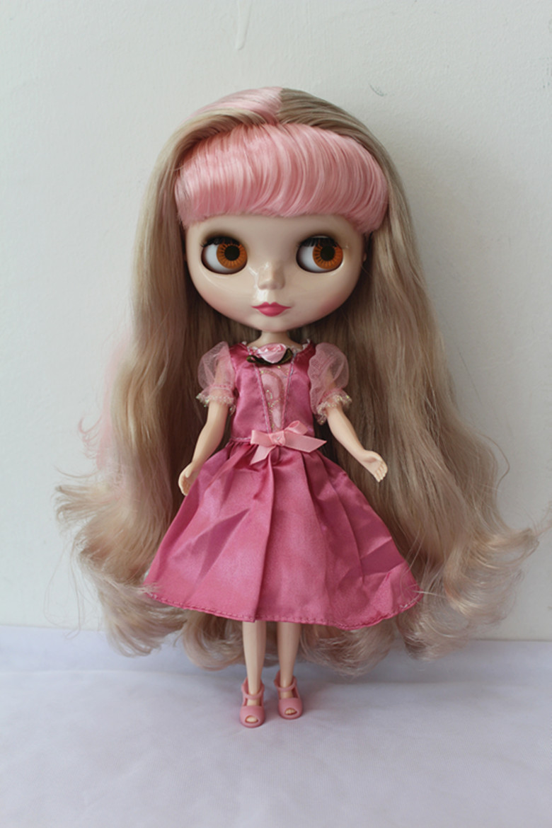 Free Shipping big discount RBL-166DIY Nude Blyth doll birthday gift for girl 4colour big eyes dolls with beautiful Hair cute toy free shipping bjd joint rbl 415j diy nude blyth doll birthday gift for girl 4 colour big eyes dolls with beautiful hair cute toy