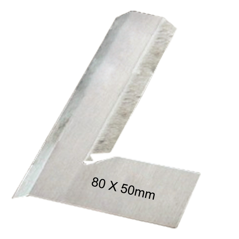 80*50mm Angle Square Broadside Knife-Shaped 90 Degree Angle Blade Ruler Gauge Blade Measuring Tool