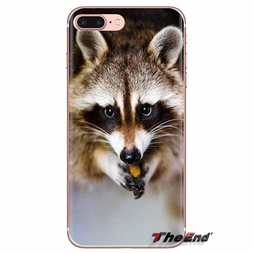 Kawaii для маленьких енотов еноты для Samsung Galaxy A3 A5 A7 A9 A8 звезда A6 плюс 2018 2015 2016 2017 мягкий прозрачный просвечивающийся Чехол Чехлы