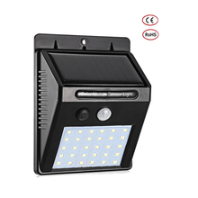 1-4pcs LEDs Solar Light Motion Sensor Outdoor Garden Decoration Fence Stair Pathway Yard Security Lamp Sunlight stre