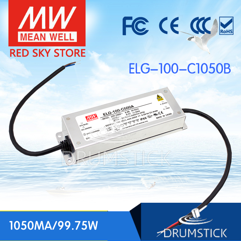 Hot sale MEAN WELL original ELG-100-C1050B 105V 1050mA meanwell ELG-100 105V 99.75W LED Driver Power Supply B type hot sale 100% original english panel for launch cnc602a injector cleaner
