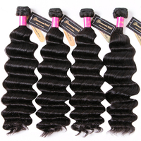 Loose Deep Wave Bundles Deal Can Buy 1/3/4 Bundles Full Head 100% Remy Human Hair Weave Extensions Indian Hair Bundles for Women
