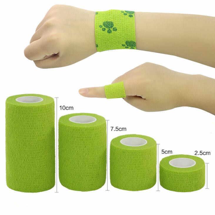 4Pcs กันน้ำ Medical Therapy Self กาวผ้าพันแผลกล้ามเนื้อเทปปฐมพยาบาลชุดผ้าพันแผล 2.5-10 ซม.