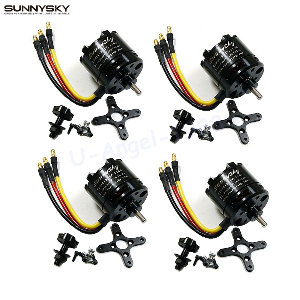 4set/lot SunnySky X2814 Series 900KV 1000KV 1100KV 1250KV 1450KV Outrunner External Rotor Brushless Motor 4set lot a2212 1000kv brushless outrunner motor 30a esc 1045 propeller 1 pair quad rotor set for rc aircraft multicopter