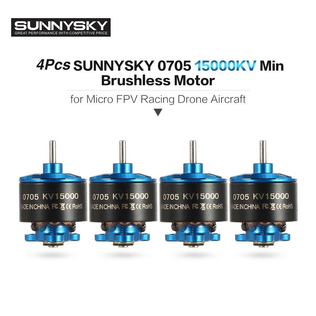 ¡Caliente! 4 piezas 0705 kV Min/R1106 6500KV 1-S 2 s Motor sin escobillas RC partes para 60-90mm Micro RC FPV Racing Drone Aircraft RC partes