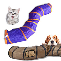 130*25cm PVC Collapsible Cat Play Tunnel Funny Long Pet Tunnel For Cats S Shape Training Playing Toy Small Dogs High Quality