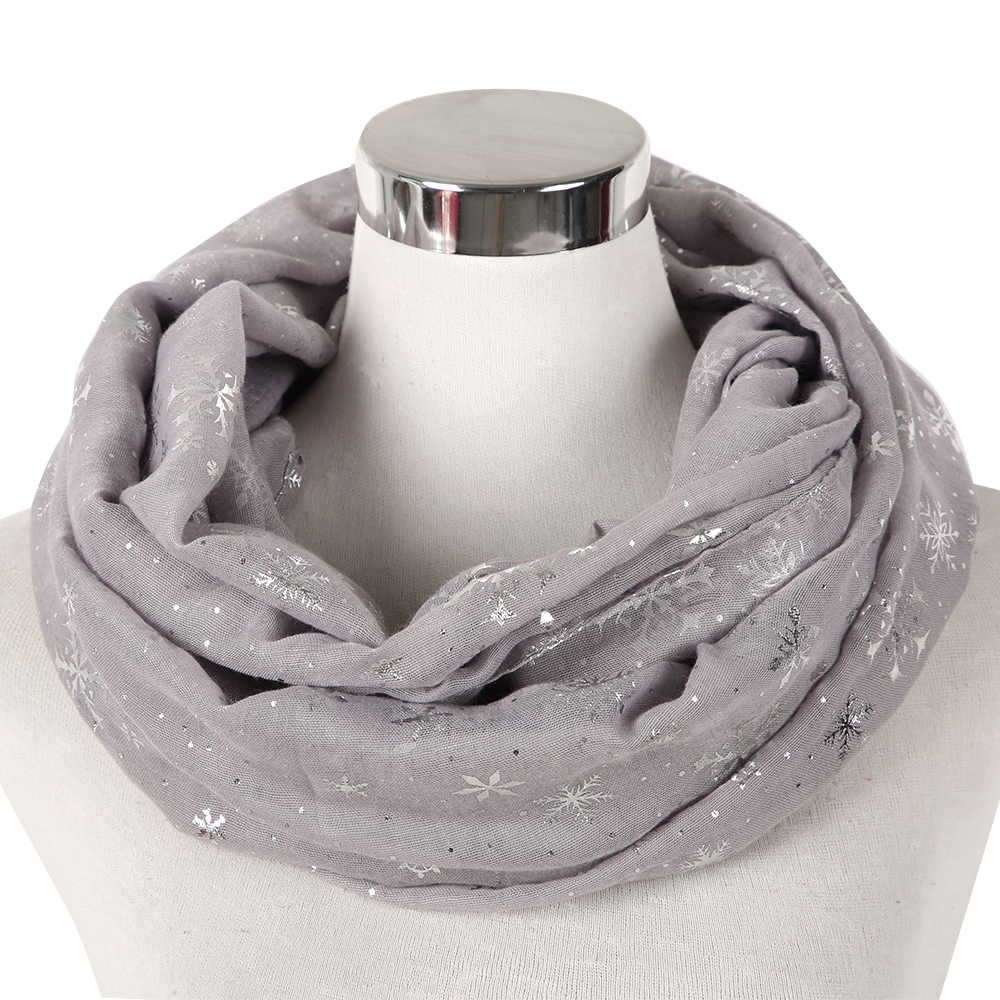 3b161bd4b258 ... FOXMOTHER New Fashion Winter Burgundy Caramel Snowflake Scarf Snood  Hijab Evening Wrap Bufanda Scarves Ladies ...