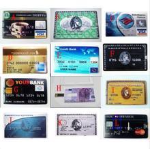 2018 Лидер продаж! Модель кредитной карты флэш-накопитель USB 2,0 4 ГБ 8 ГБ 16 ГБ 32 ГБ 64 ГБ 128 Гб карта памяти банка