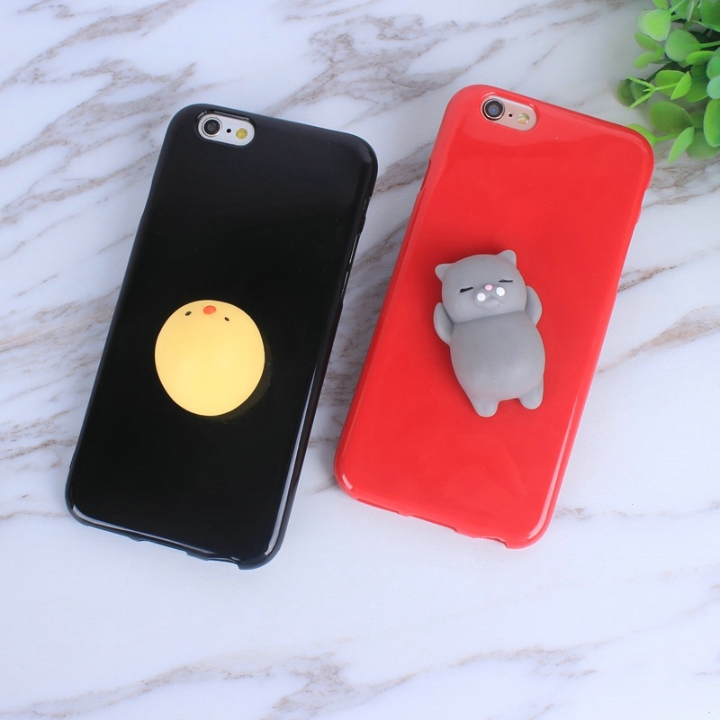Cute <font><b>Squishy</b></font> <font><b>Phone</b></font> <font><b>Case</b></font> Cover For <font><b>iphone</b></font> 7 7 plus Capa Animal Printed Shell Stress Relieve Toys For <font><b>iphone</b></font> 5 <font><b>5s</b></font> 5se 6 6s 6 plus