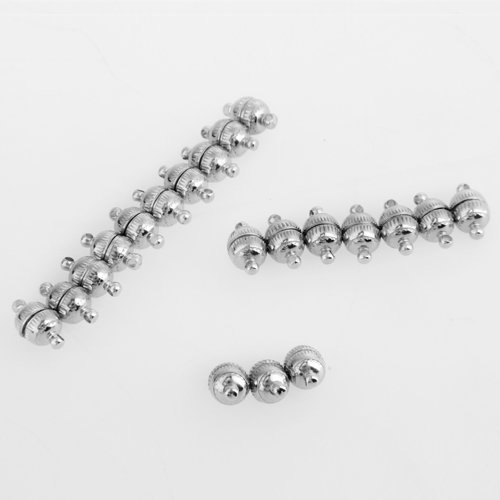20pcs 15x8mm Strong Magnetic Clasps for Necklace Bracelet Chain Buckle Hook Clasps Jewelry