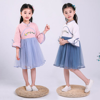 Chinese Dance Costume For Girls Hanfu Oriental Performance Clothing Kids Festival Outfit Kids Stage Wear Practice Dress DC2209