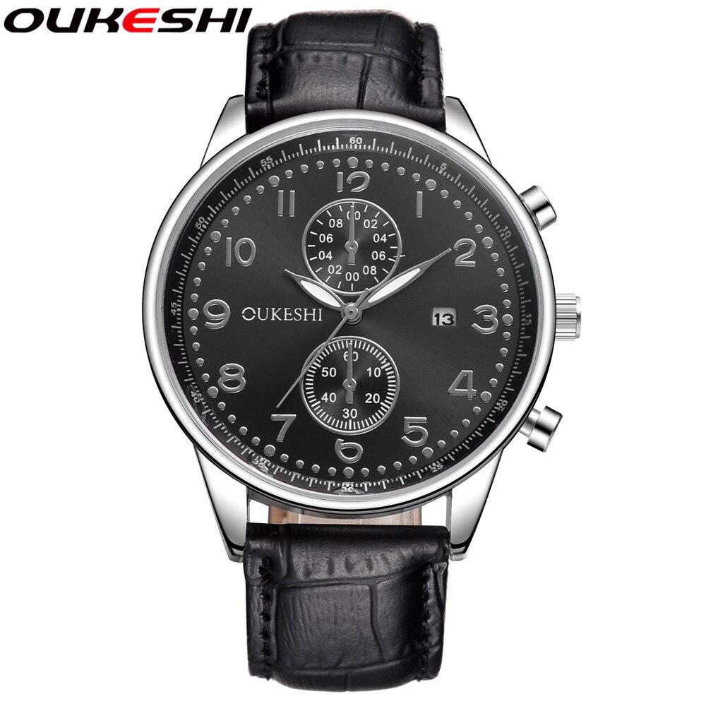 OUKESHI Marca de Moda Casual Hombres Relojes Reloj de Pulsera Hombre - Relojes para hombres