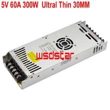 5V 60A 300W ultra delgada de conmutación fuente de alimentación LED para P1.2 P1.4 P1.5 P1.6 P1.8 P3.75 P13.33 P20 P25 pantalla LED de entrada 200 240V