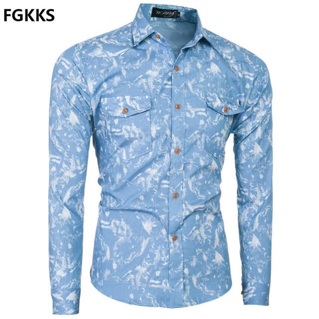2016 nueva llegada de la marca de clothing otoño casual camisa de los hombres de moda de manga larga camisa de los hombres de impresión camisa de esmoquin masculino envío gratis
