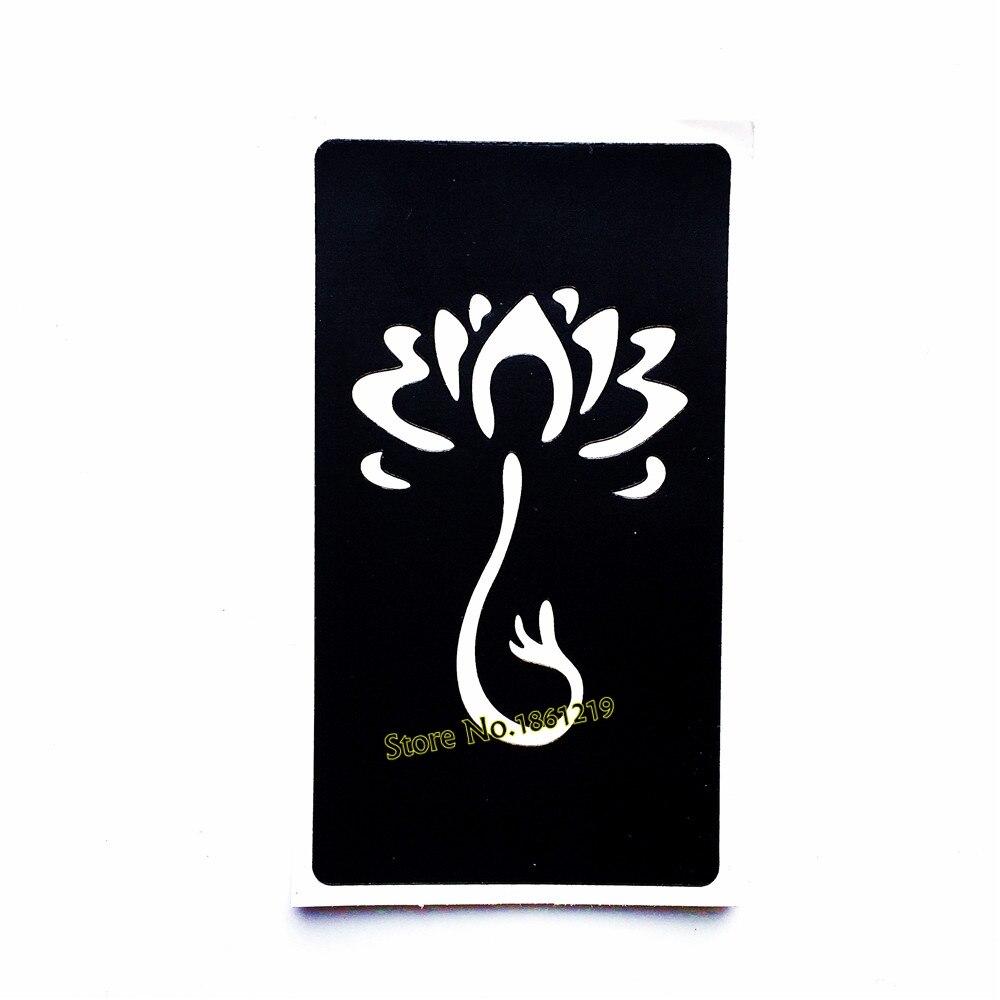 Sexy Henna Lotus Flower Tattoo Stencil For Women Body Art Arm Legs