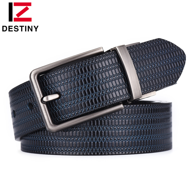 DESTINY Newest Designer Belts Men High Quality Male Genuine Leather Strap Luxury Famous Brand Double Sided Belt Jeans Wedding