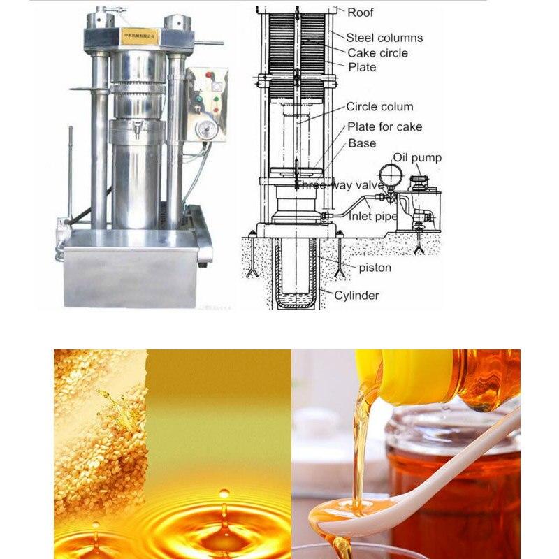 Presse à huile hydraulique automatique pour presse à froid de sésame et de chanvre, presse à huile d'olive expédiée par mer