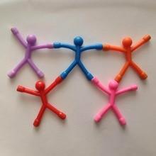 Гибкая Магнитная Q-Man модель марионетки Фигурки игрушки дети милые гибкие резиновые фигурки стикер для хранения бумаги фотографии