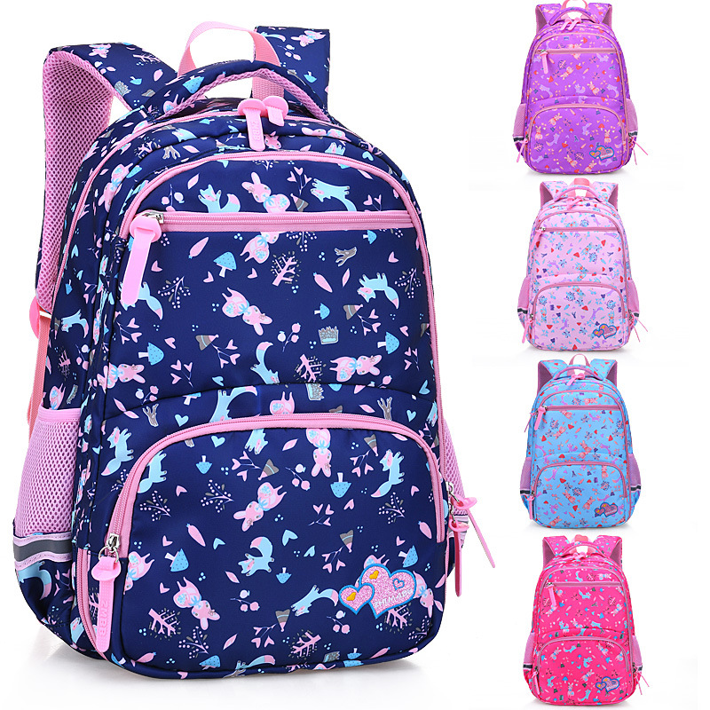 Girls Sweet Floral School Bags Large Capacity Cartoon Backpack For Teenagers Bagpack Children Student Primary School Backpacks