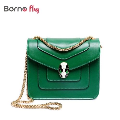 New 2017 Fashion Women Messenger Bag Mini Solid Green Handbag And Gold Chain Flap Hand Crossbody Bag For Lady Sac Femme Bolsa