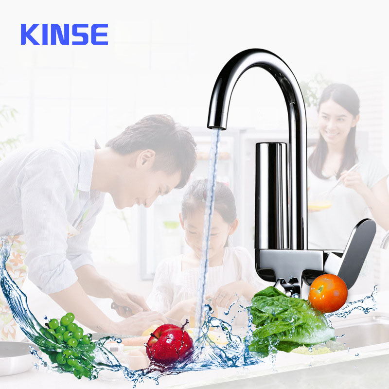 Filter Kitchen Faucet 2 Handles Pure Water Tap Hot Cold Mixer Kitchen Faucets 2 Functions Water Outlet Activated Carbon Taps