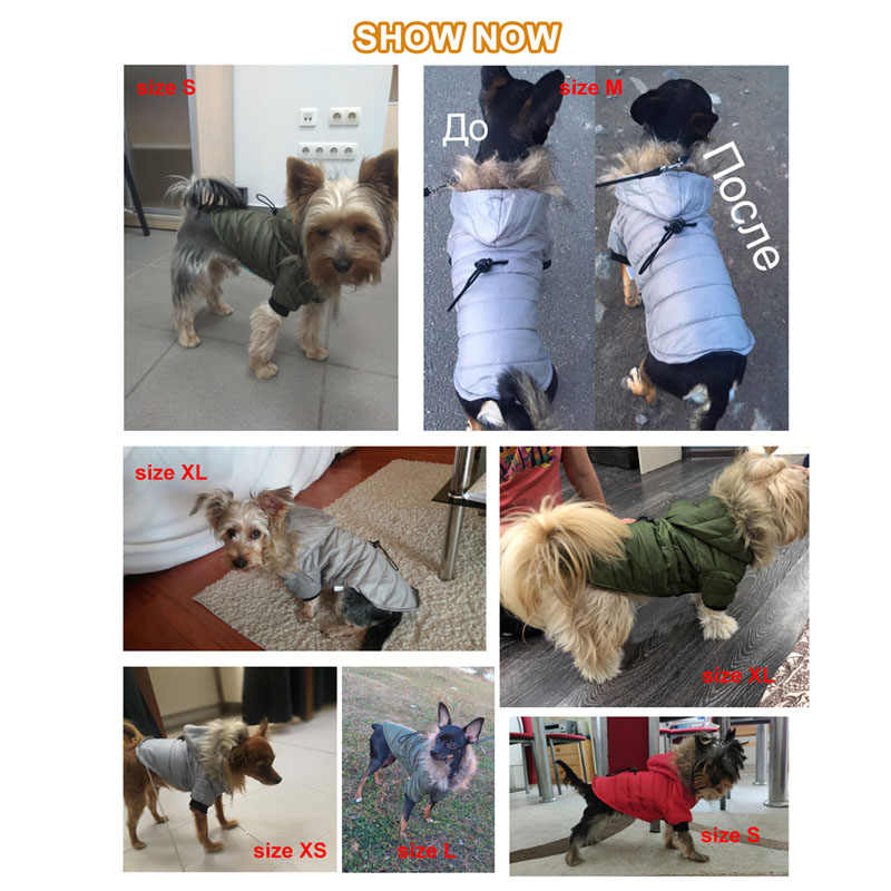 2b6ee8dc3d2 ... Pawstrip 5 Size Pet Dog Coat Winter Warm Small Dog Clothes For  Chihuahua Soft Fur Hood
