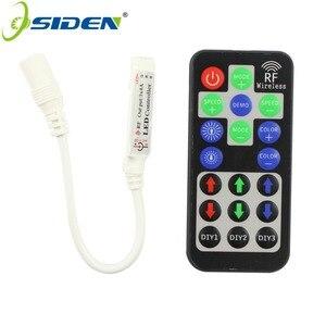 Por DHL RF RGB DIY LEVOU controlador 12A 12 v 3 * 4A com função de DIY para 5050/3528 Tira CONDUZIDA luz Com Controle Remoto RF Dimmer