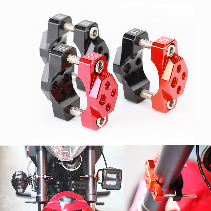 Motorcycle Handlebar Riser Accessories Clamp Bracket Adaptor For Spotlight mirror gps phone Holder 32mm 42mm 54mm Universal
