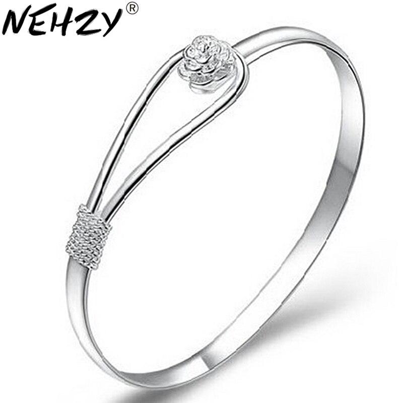 Flower Bracelets Silver...