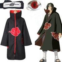 Аниме Наруто Акацуки плащ, костюм для косплея, Итачи кольцо оголовье для женщин и мужчин подарки