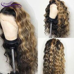 Image 3 - Perruque Lace Front wig Remy brésilienne à reflets ombré