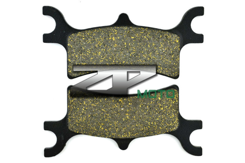 Organic Kevlar Brake Pads For POLARIS 500 Sportsman Touring EFi Quad 2008-2010 Rear OEM New High Quality atv quad front brake disc rotor for polaris 500 sportsman efi quad h o 600 4x4 700 mv x 2 800 ntl ho touring big boss 6x6