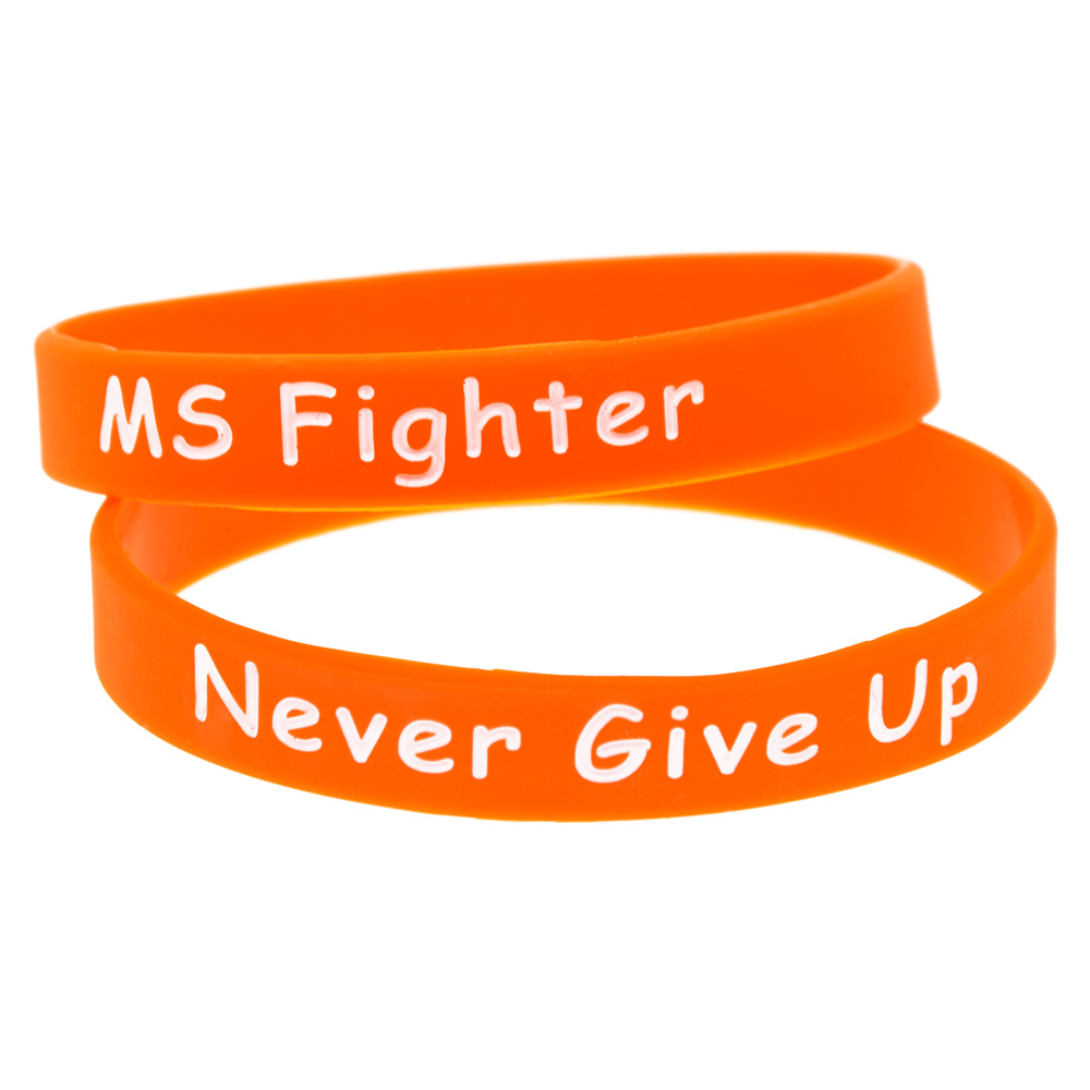 OneBandaHouse 1PC Motivational Gelang MS Fighter Jangan sekali-kali menyerah gelang silikon