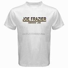 12407164dc82 Nova Smokin Joe Frazier Joe Lenda do Boxe Campeão Branco dos homens T-Shirt  Tamanho