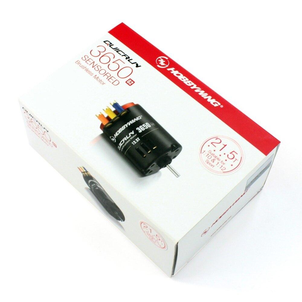 Hobbywing QUICRUN G2 3650 Sensored 6.5 T/8.5 T/10.5 T/13.5 T/17.5 T/ 21.5T سباق فرش السيارات ل 1/10 Rc سيارة الزاحف-في قطع غيار وملحقات من الألعاب والهوايات على  مجموعة 3