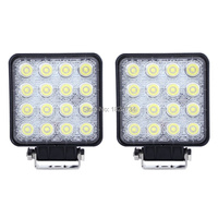 2pcs 48W LED Work Light Lamp For Tractor Boat Off Road 4WD 4x4 Truck SUV ATV