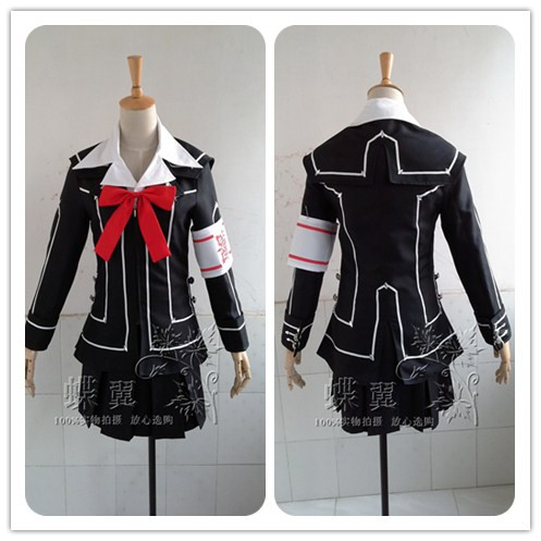 Vampire Knight Kuran Yuki Cosplay Costume Black White School Uniform Outfit Halloween Party Costumes for Women Anime Costumes
