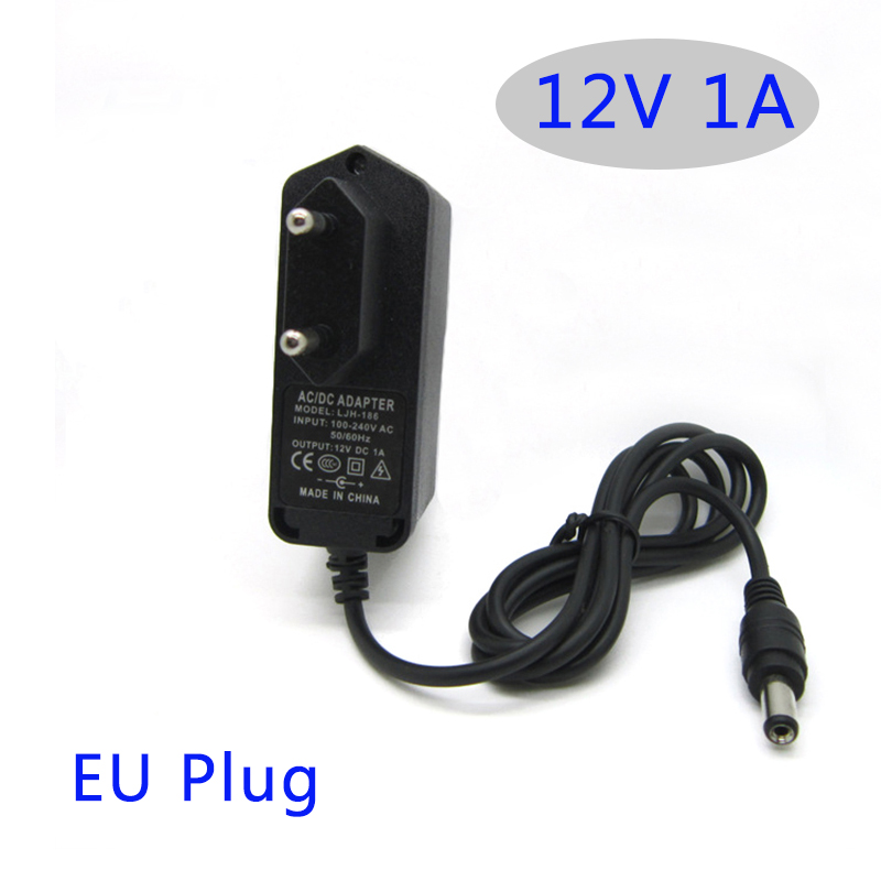 Adroit Ac Dc Power Adapter 12v 1a 1000ma 12w Converter Adapter Charger Dc5.5*2.1mm Plastic Case Led Driver Wall-mounted With Eu Plug To Win A High Admiration And Is Widely Trusted At Home And Abroad.
