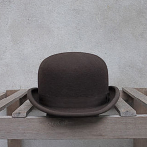 Image 3 - 100% Wool Bowler Hat Women men 100% Crushable Traditional Billycock Groom Hats 4 Size S M L XL