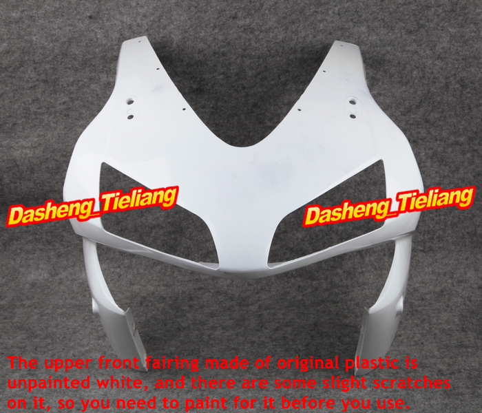 GZYF Unpainted Upper Front Fairing Cowl Nose Parts for Honda CBR 600RR F5 2003 2004, ABS Plastic