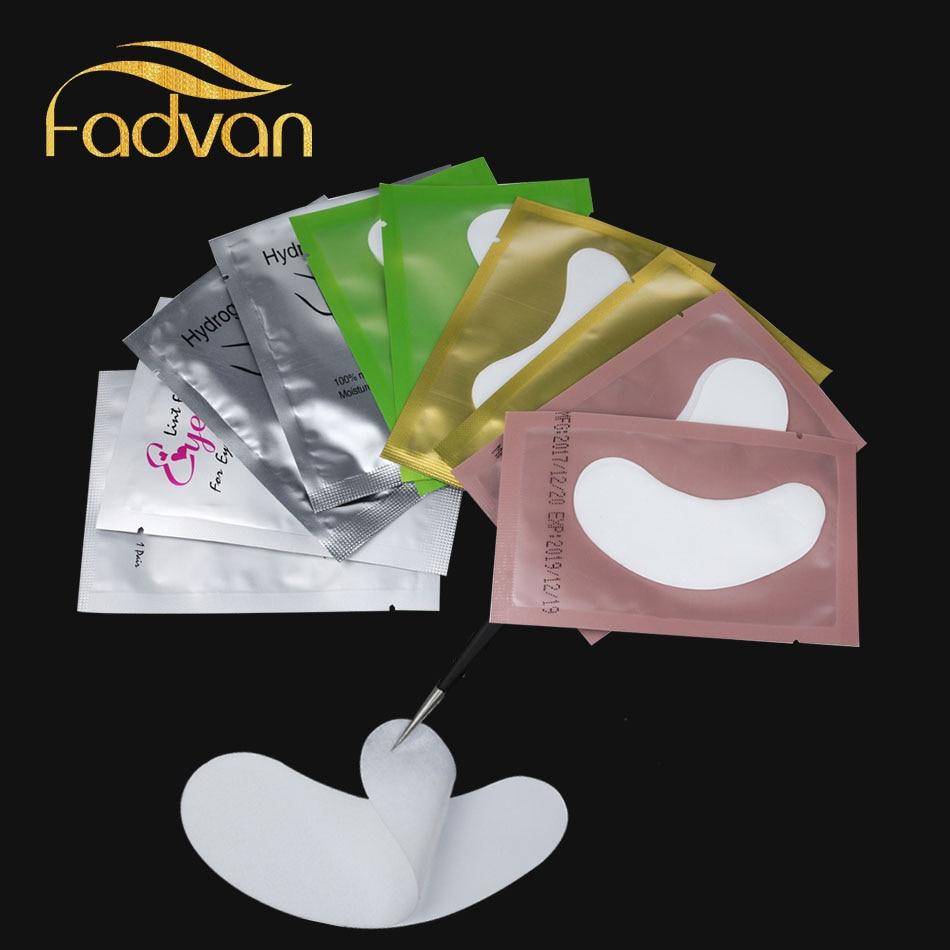 Fadvan 100 Pairs Mix színes szempillák Patches Lint Free Eye Patch - Smink