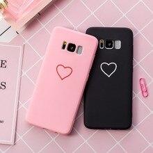 Купить с кэшбэком Love Heart TPU Silicone candy Soft Case For Samsung Galaxy S10 Lite S10e M20 A6 A7 A8 J2 J3 J4 J6 J7 J8 J2 Pro 2017 2018
