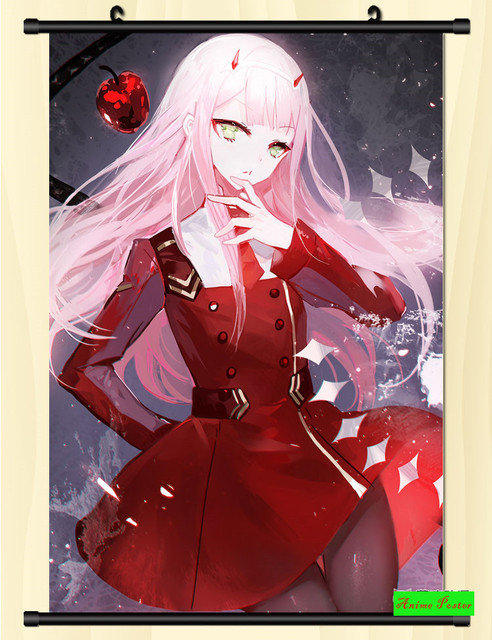 Anime Poster Darling in the franxx Wall Scroll Printed Painting Home Decor Japanese Cartoon Decoration Poster 60*90cm 5