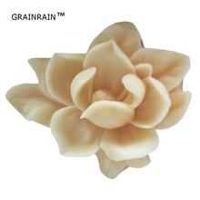 Grainrain 3D Цветок Формы Силиконовые Мыло плесень цветы для сделай сам, поделки ручной работы мыло