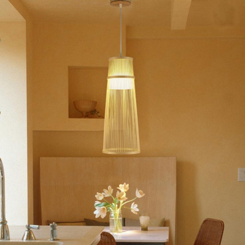 Licht & Beleuchtung Handgemachte Bambus Lampe Wicker Rattan Welle Schatten Anhänger Licht Vintage Japanischen Lampe Suspension Home Indoor Esstisch Zimmer
