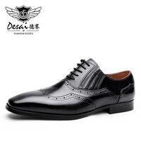 39 47 Genuine Leather Shoes Men Pointed Toe Oxfords Shoes For Men Formal Office Men Dress
