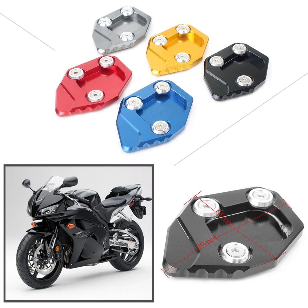 Side Kickstand Extension plate pad for Honda CBR600RR F5 2007-2015 Titanium//Blue