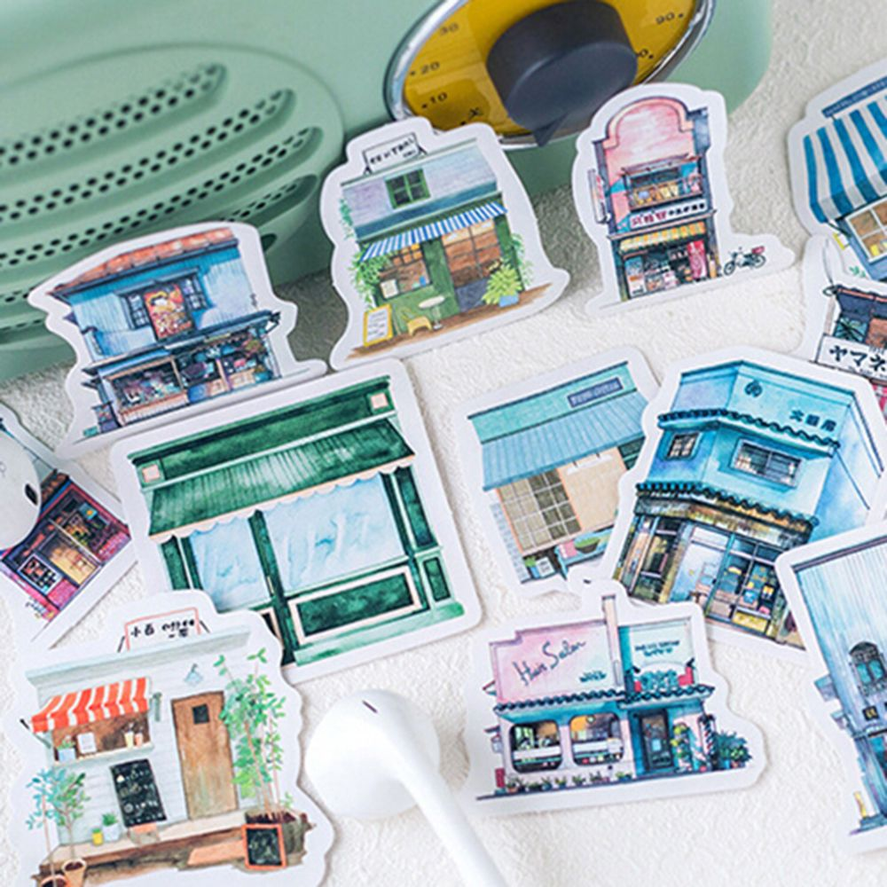 40 pcs Travel series beautiful sticker photo album Scrapbook paper decoration sticker diy Handmade gift card stickers Arts Craft in Stationery Stickers from Office School Supplies