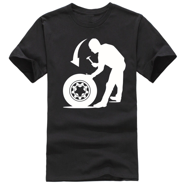T shirt design keep calm - Tire Repair Service Funny Design Men T Shirt Hot Sale Fashion Casual Summer Print Man S